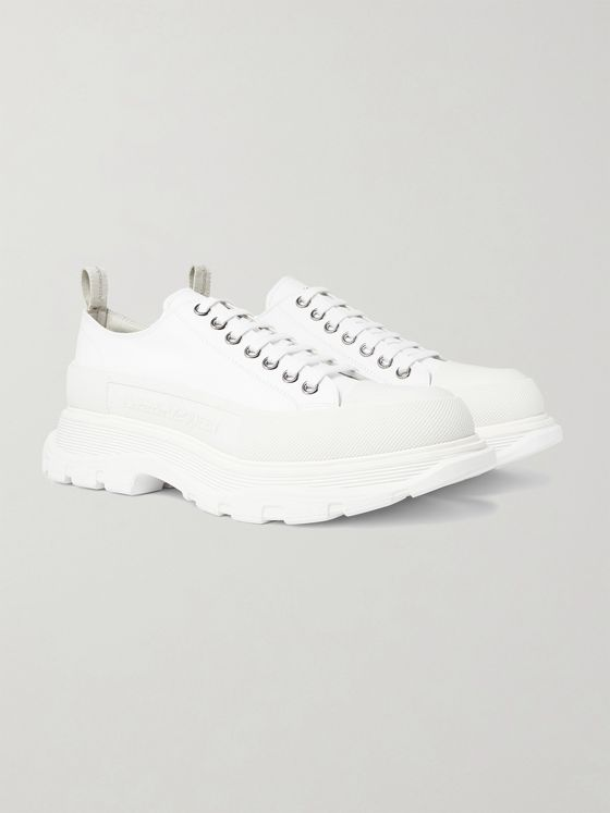 Alexander McQueen Rubber-Trimmed Canvas Sneakers