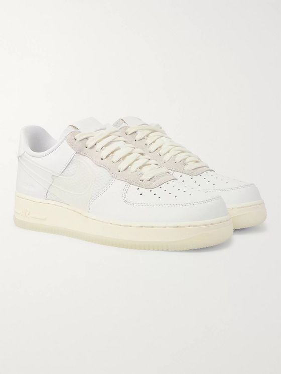 Nike Air Force 1 LV8 Leather, Suede and Ripstop Sneakers