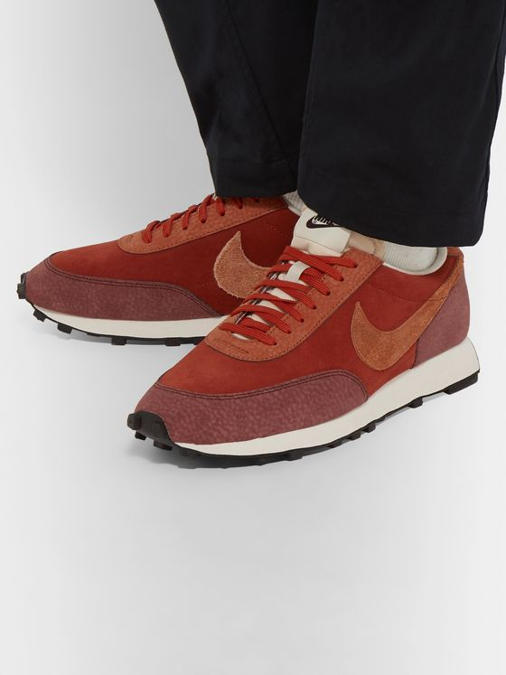 Nike Daybreak Suede and Textured-Leather Sneakers