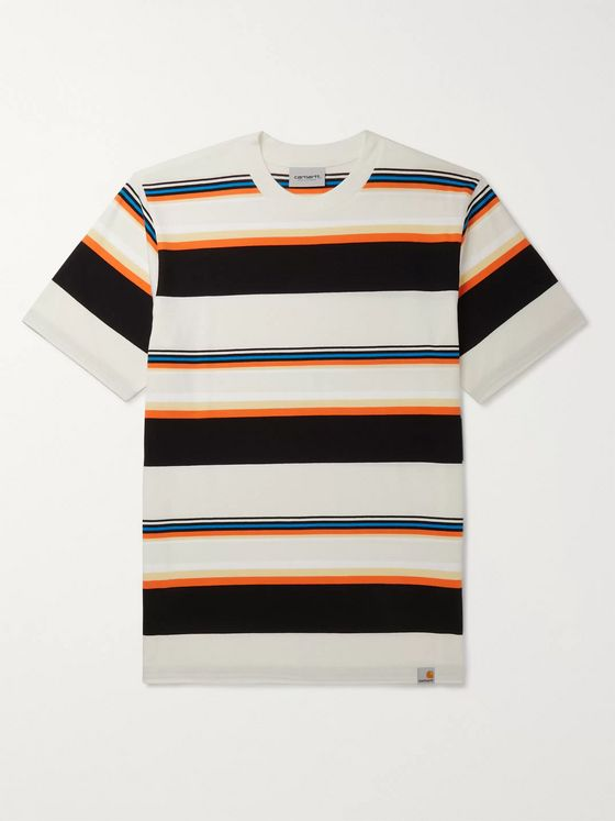 Carhartt WIP Sunder Logo-Appliquéd Striped Cotton-Jersey T-Shirt