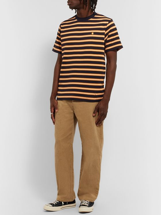 Carhartt WIP Oakland Striped Cotton-Jersey T-Shirt