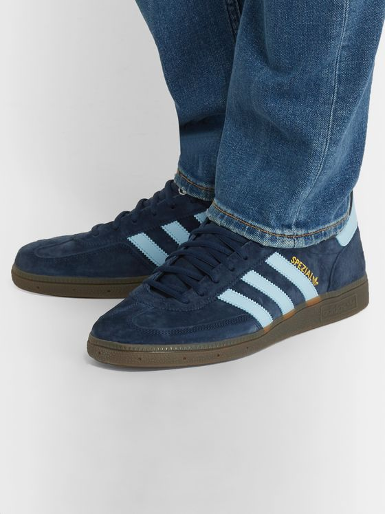 adidas Originals SPEZIAL Handball Leather-Trimmed Suede Sneakers