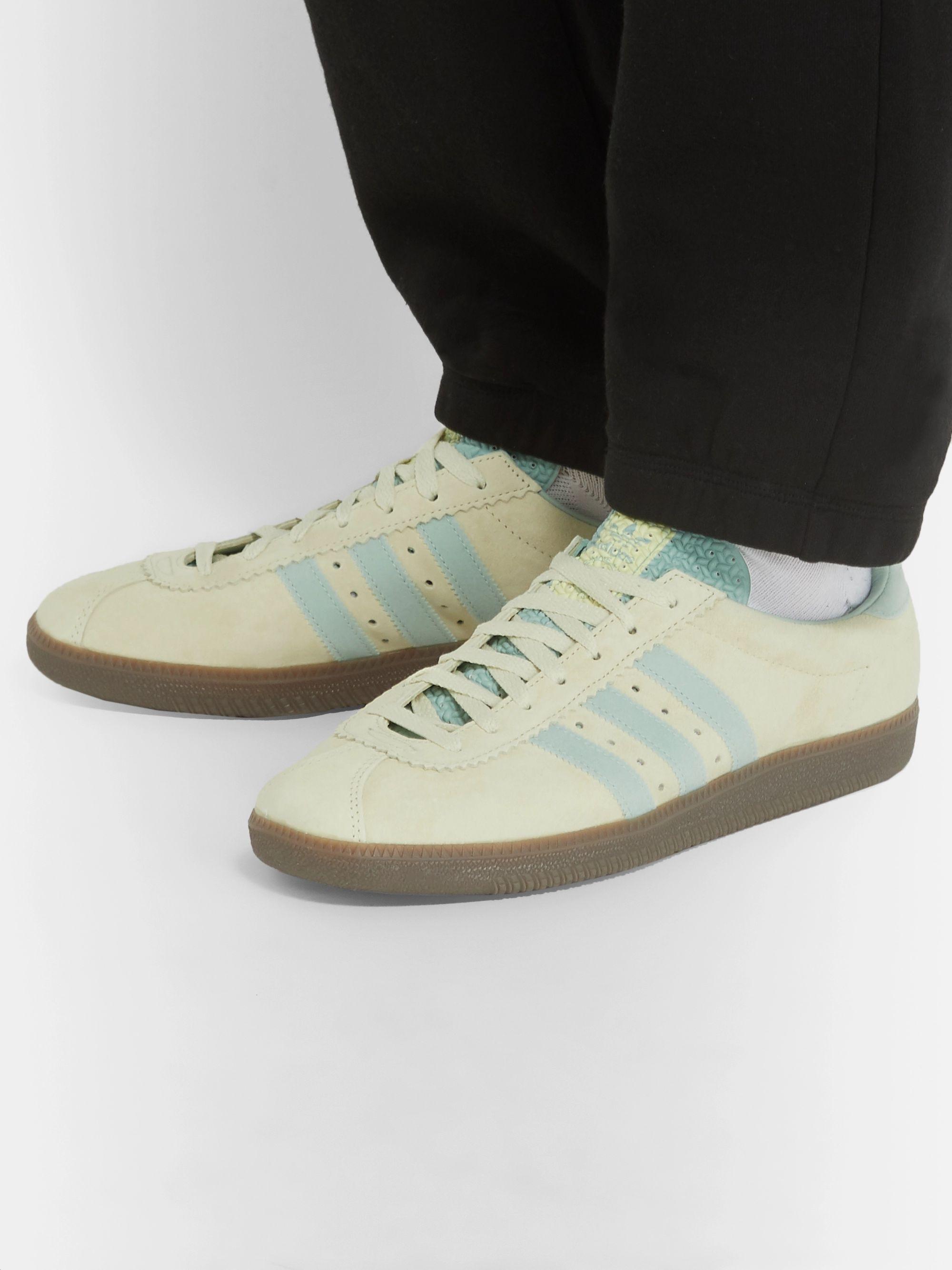 suficiente Misterio Sonrisa  Neutral Padiham Leather-Trimmed Suede Sneakers   adidas Originals ...