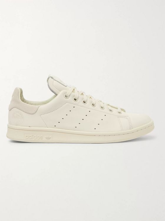 ADIDAS ORIGINALS Stan Smith Recon Suede-Trimmed Leather Sneakers