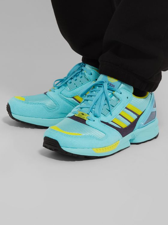 adidas Originals ZX 8000 Mesh and Faux Suede Sneakers