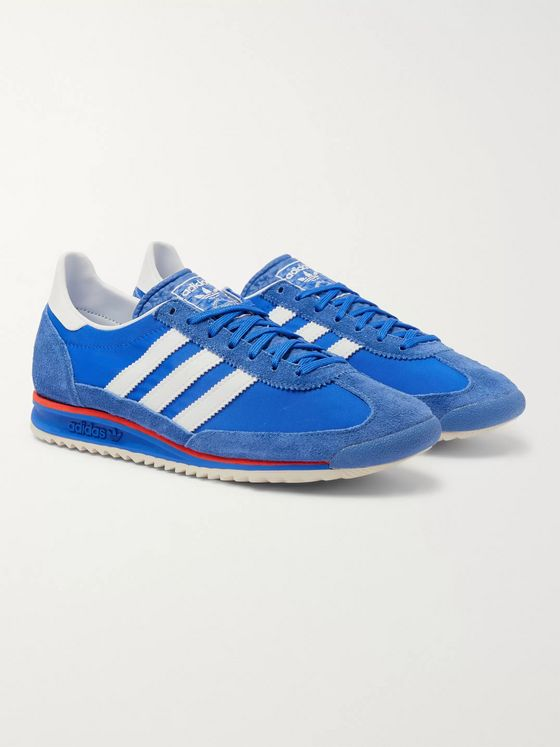 adidas Originals SL 72 Faux Leather, Faux Suede and Shell Sneakers
