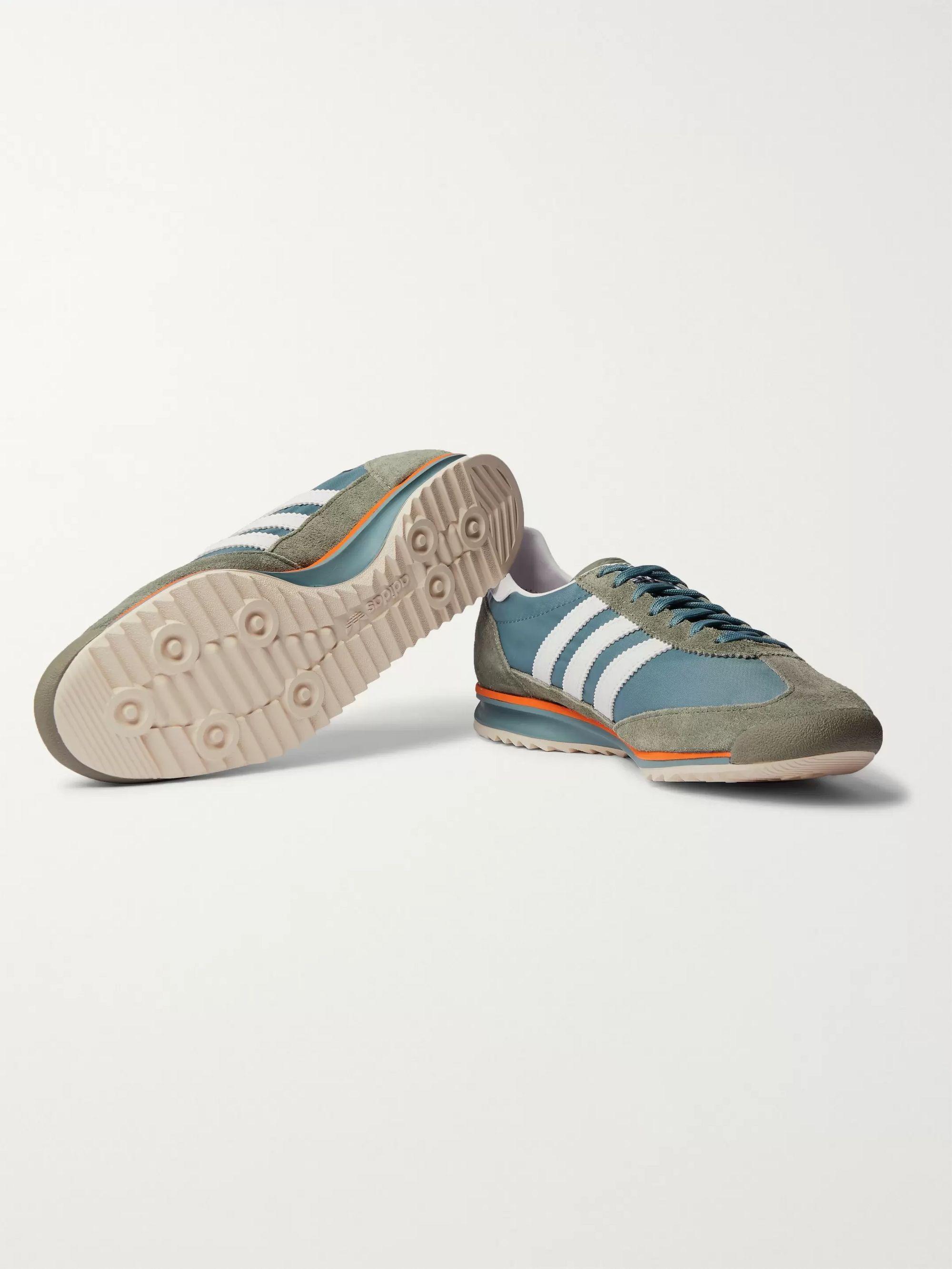 adidas Spezial shoes olive green orange