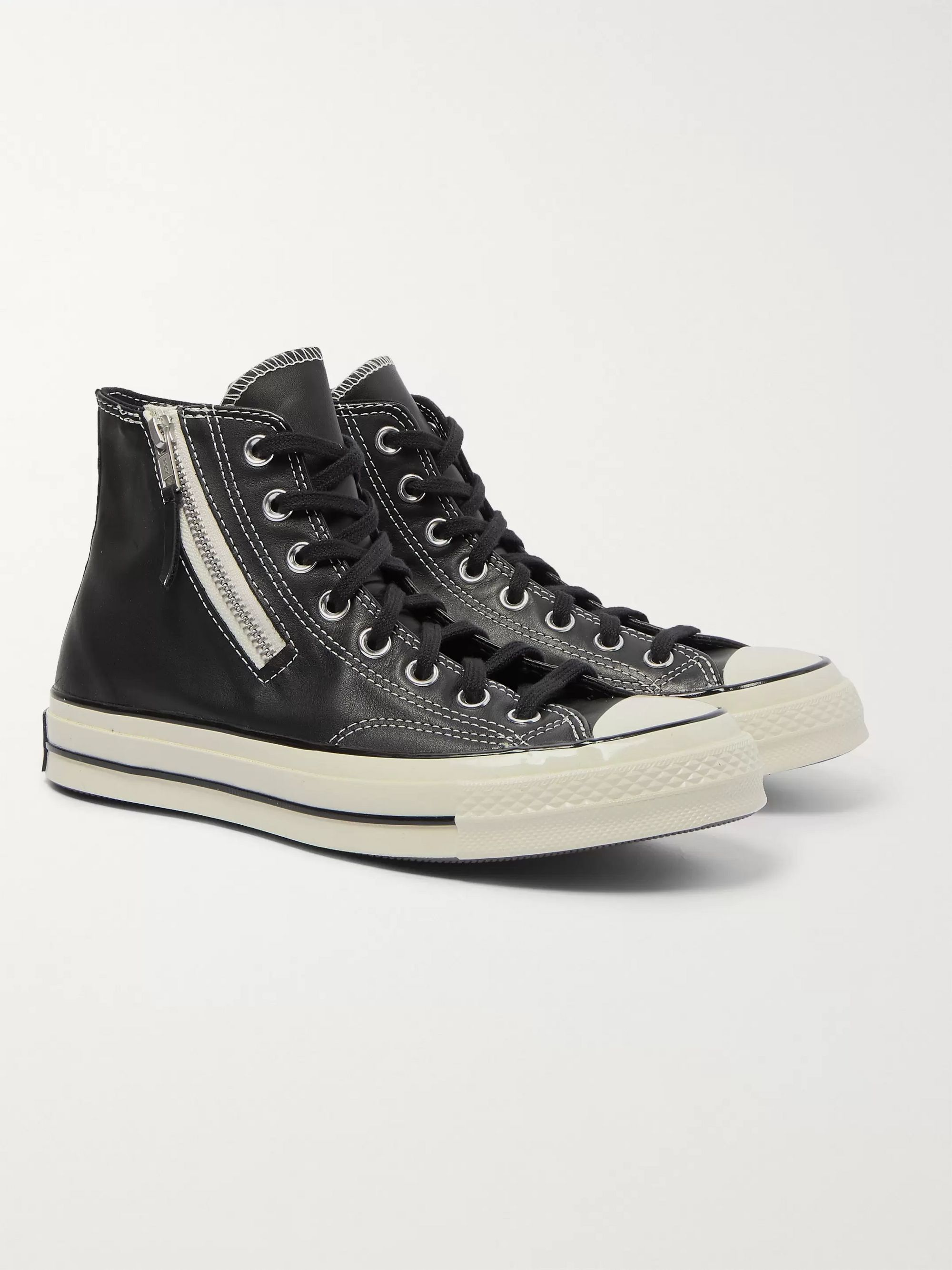 Chuck 70 Leather High Top Sneakers