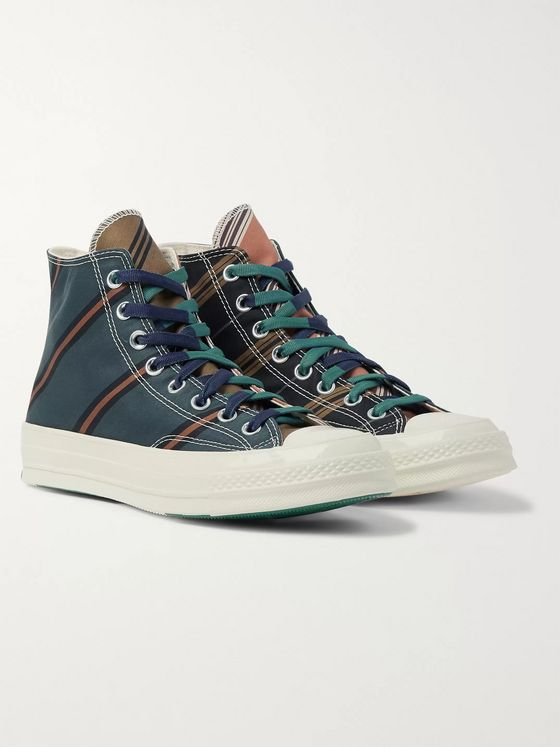 CONVERSE Chuck 70 Striped Canvas High-Top Sneakers