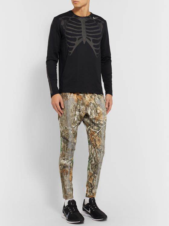 Nike Skeleton Slim-Fit Tapered Printed Stretch Tech-Jersey Track Pants