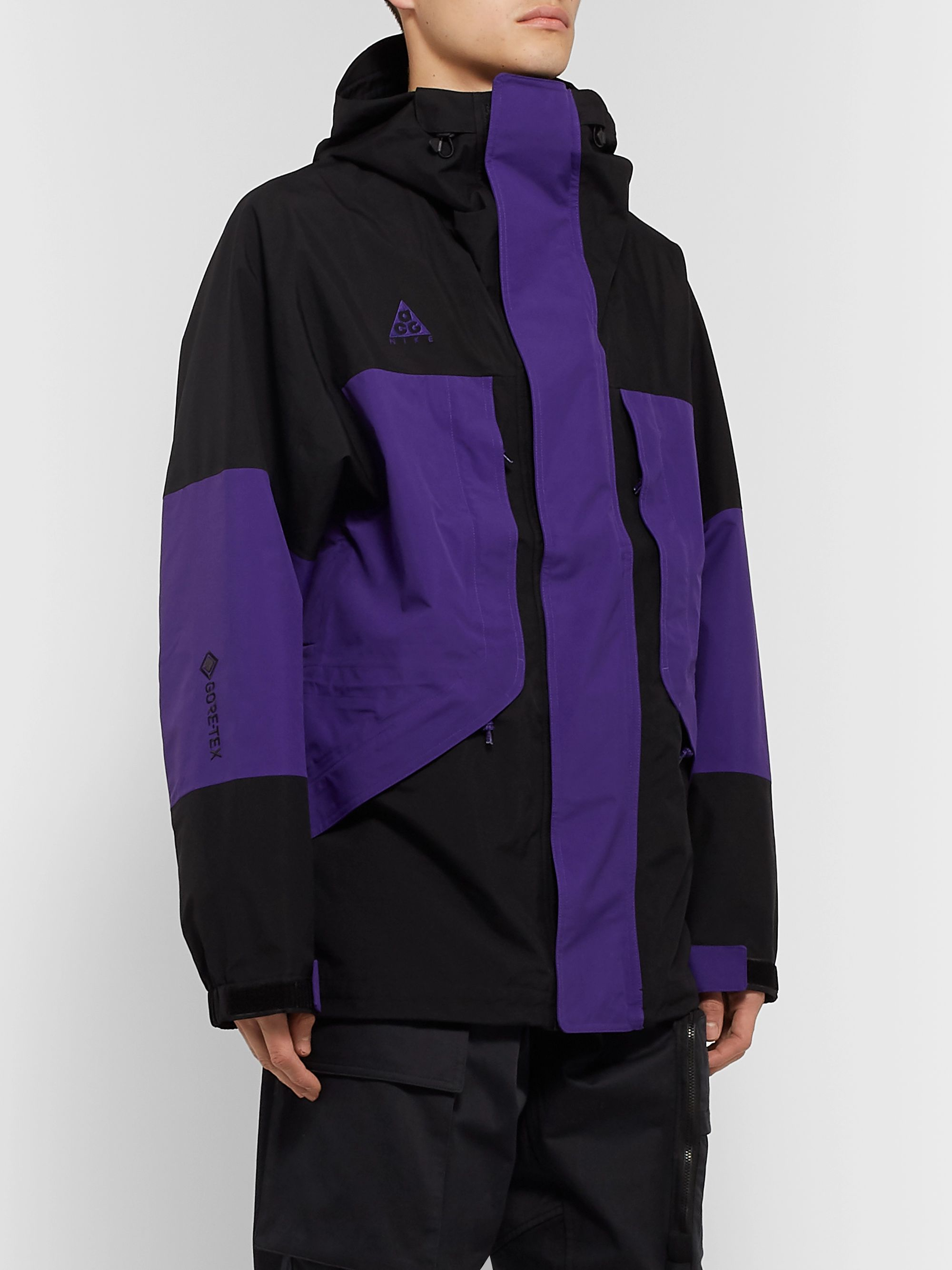 ACG NRG Logo Embroidered Colour Block GORE TEX Hooded Jacket