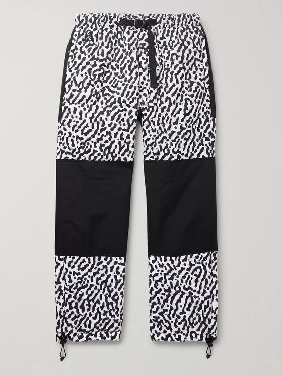 Nike ACG Trail Tapered Panelled Quilted PrimaLoft Printed Ripstop Trousers