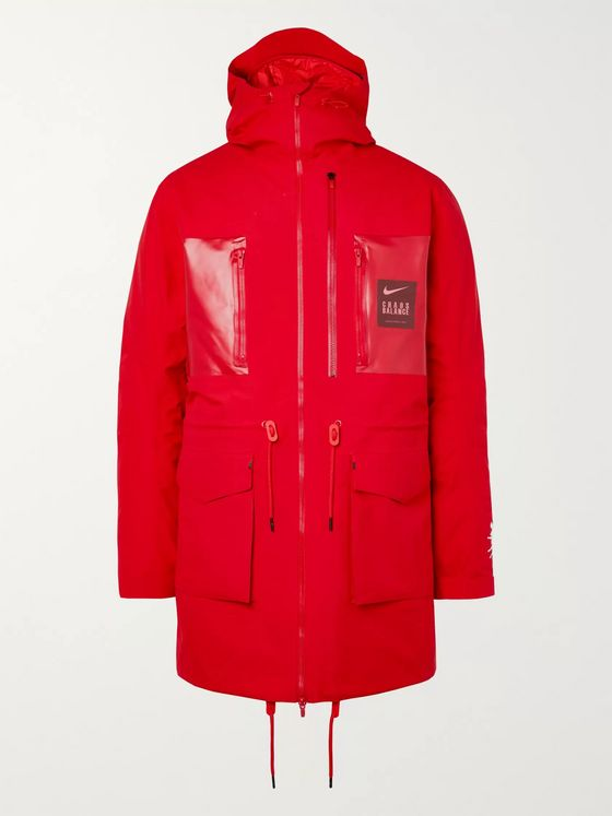 Nike + Undercover Logo-Print Coated-Twill Parka With Detachable Quilted Down Liner