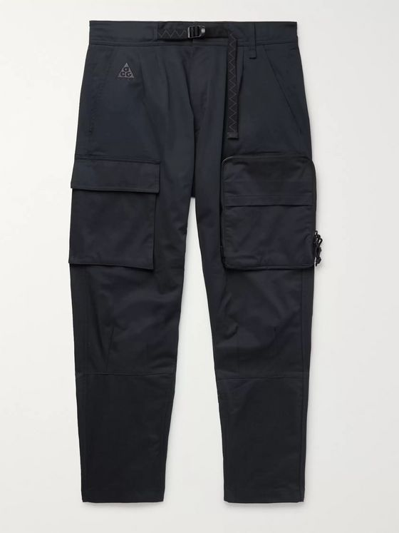 Nike ACG NRG Tapered Belted Cotton-Blend Twill Cargo Trousers