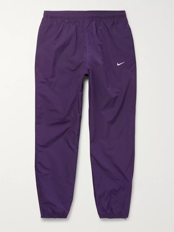 Nike NRG Tapered Logo-Embroidered Shell Track Pants