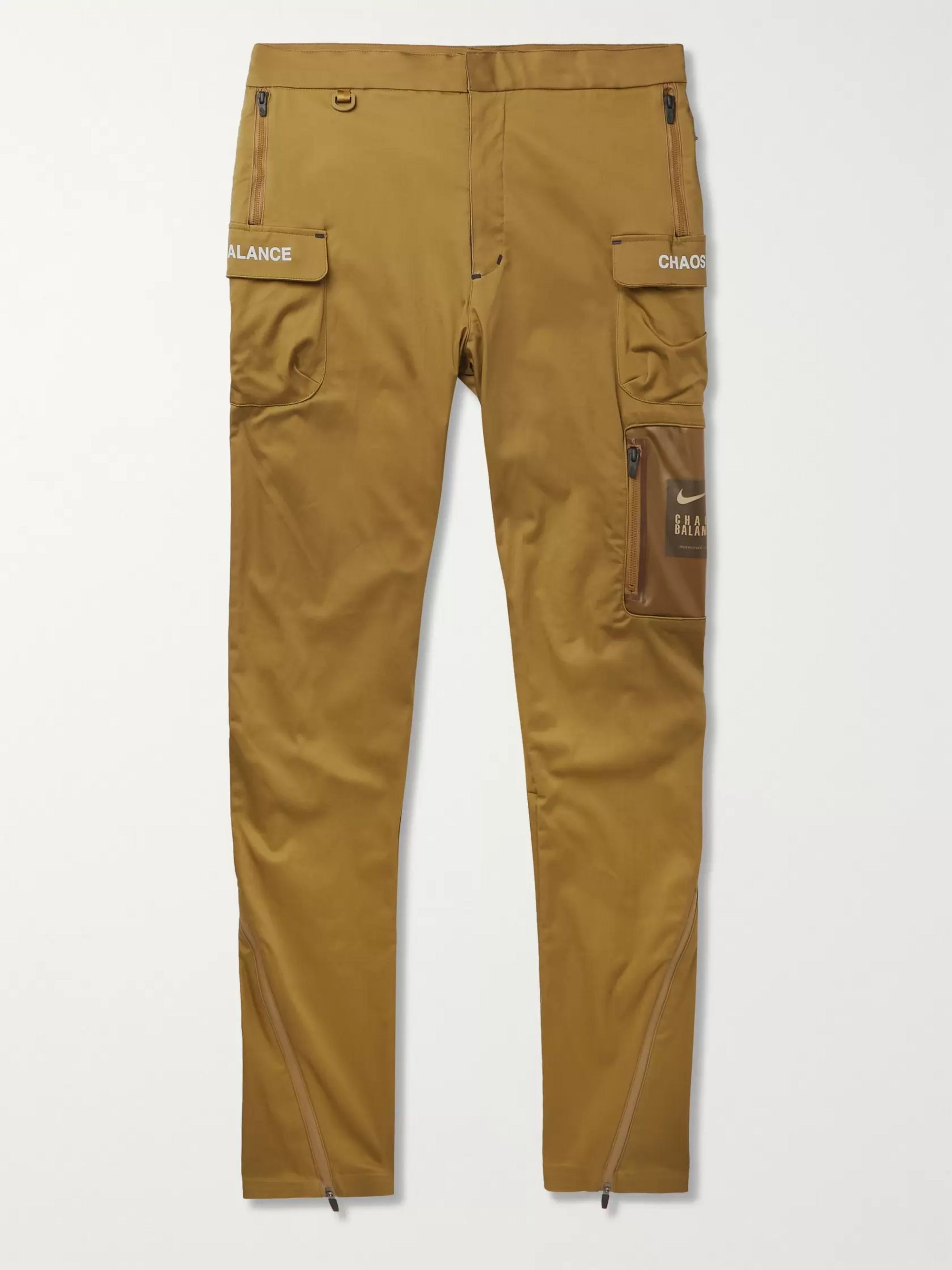 + Undercover Tapered Logo Print Cotton Blend Trousers by Nike