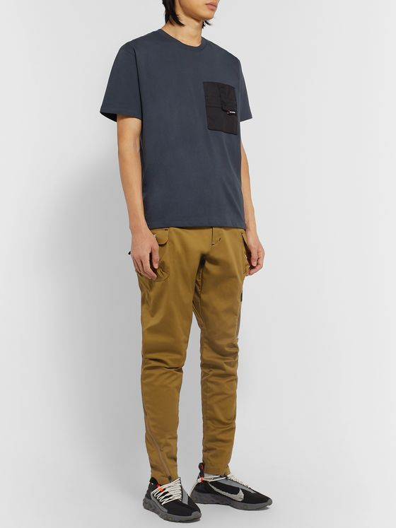 Nike + Undercover Tapered Logo-Print Cotton-Blend Trousers
