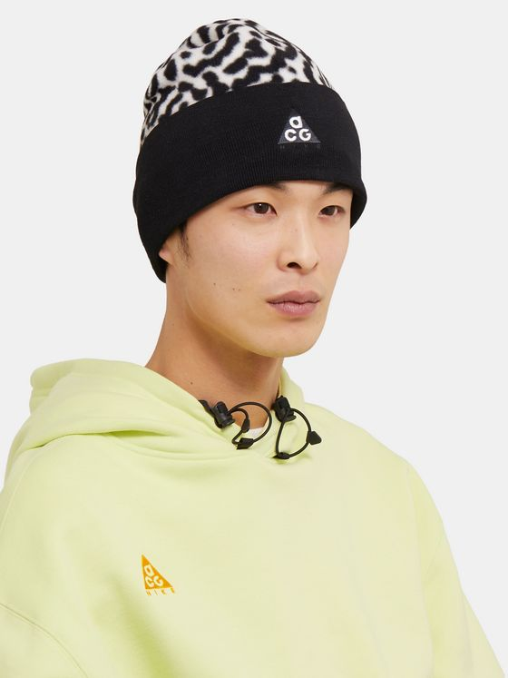 Nike ACG NRG Logo-Embroidered Leopard-Print Fleece Beanie