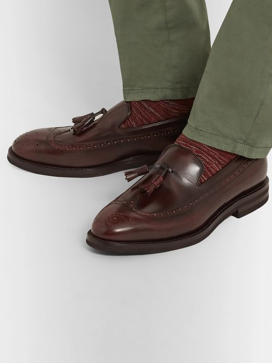 Brunello Cucinelli Leather Tasselled Loafers
