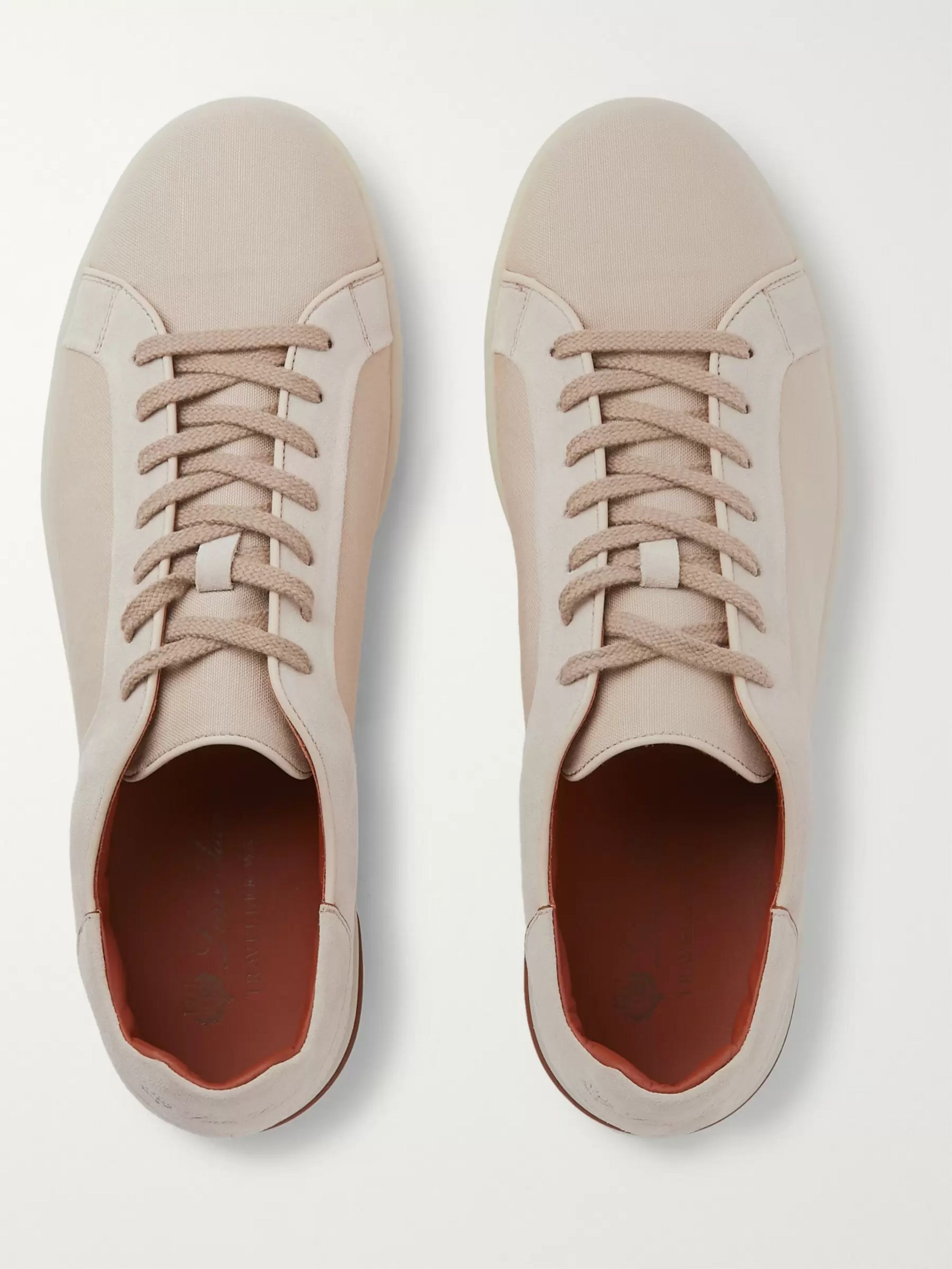 LORO PIANA Traveller Suede and Canvas Sneakers