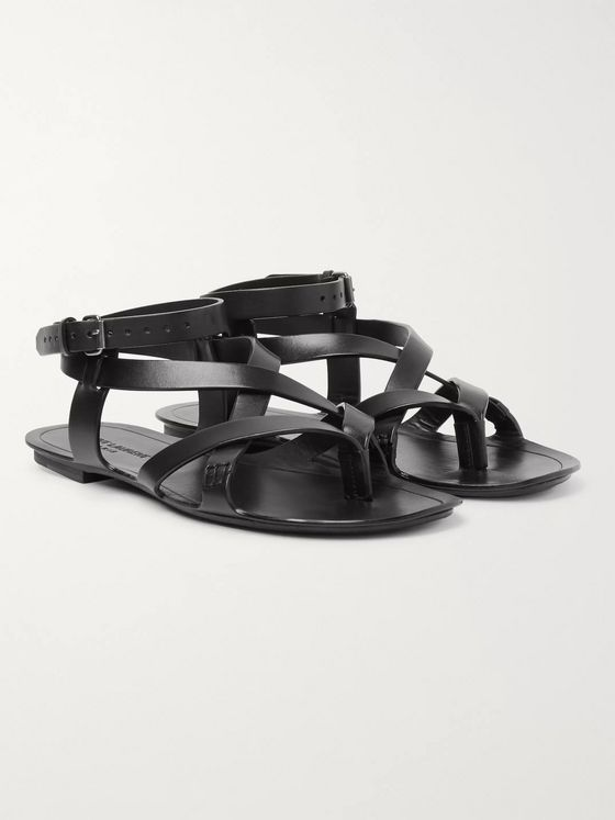 SAINT LAURENT Culver Leather Sandals