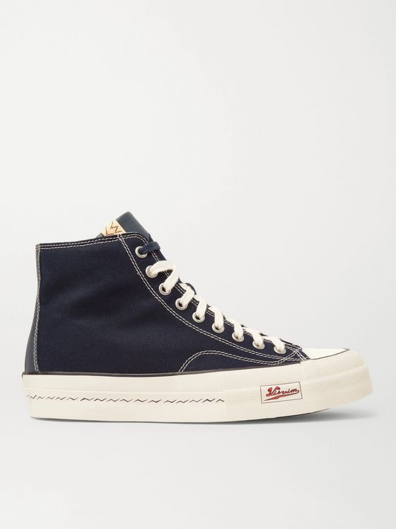 VISVIM Skagway Leather-Trimmed Canvas High-Top Sneakers