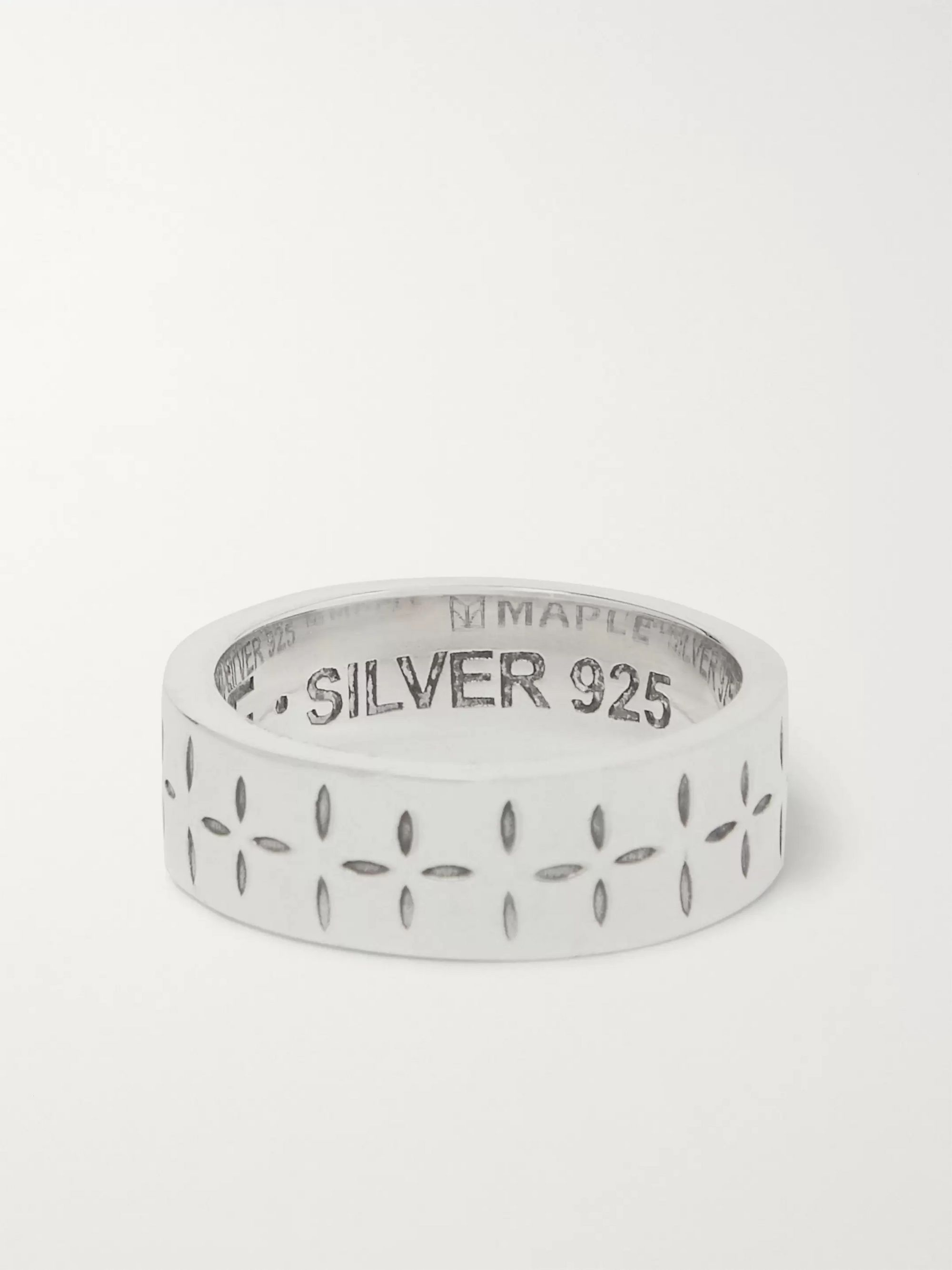 MAPLE Engraved Sterling Silver Ring