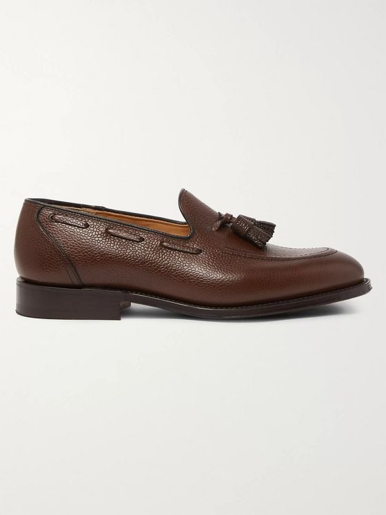 CHURCH'S Kingsley 3 Pebble-Grain Leather Tasseled Loafers