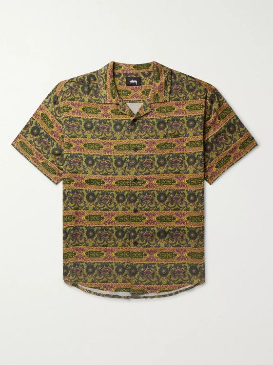 Stüssy Camp-Collar Printed Woven Shirt
