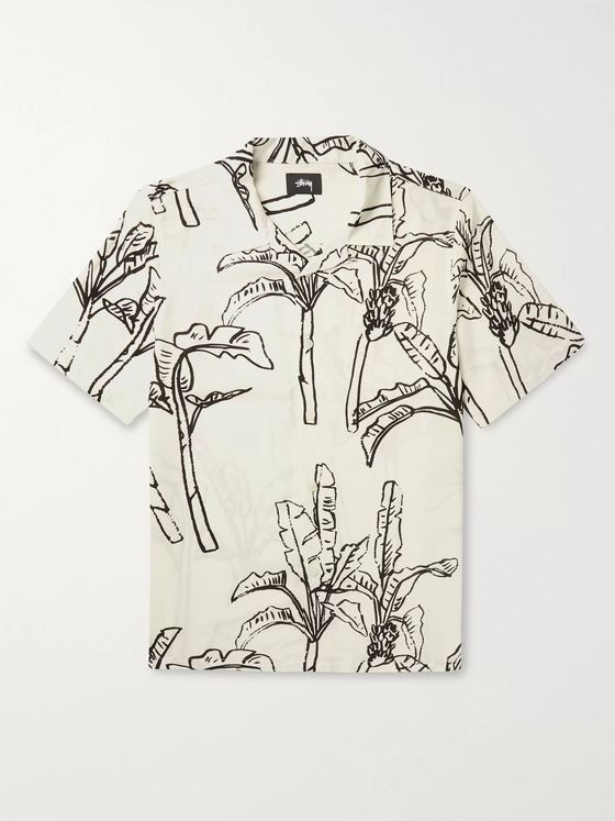 Stüssy Camp-Collar Printed Voile Shirt