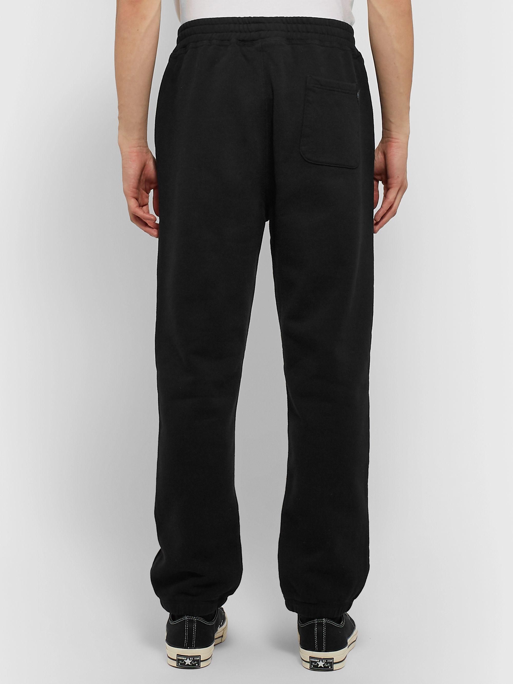 Stüssy Logo-Embroidered Fleece-Back Cotton-Jersey Sweatpants