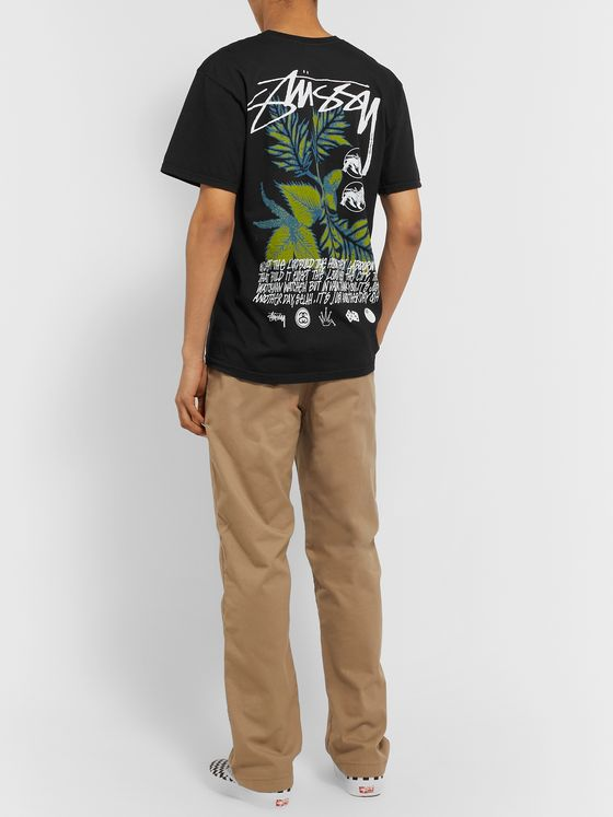 Stüssy Bloom Printed Cotton-Jersey T-Shirt