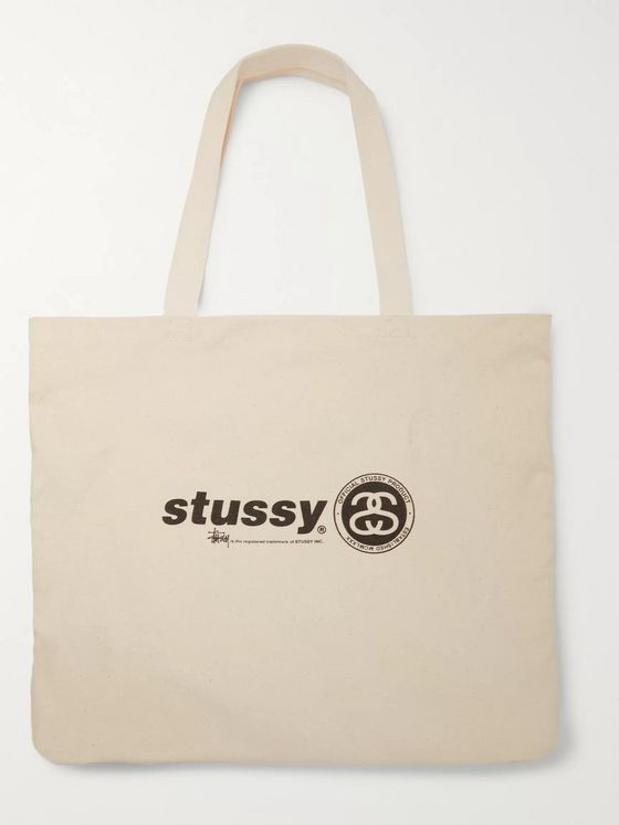Stüssy Printed Cotton-Canvas Tote Bag