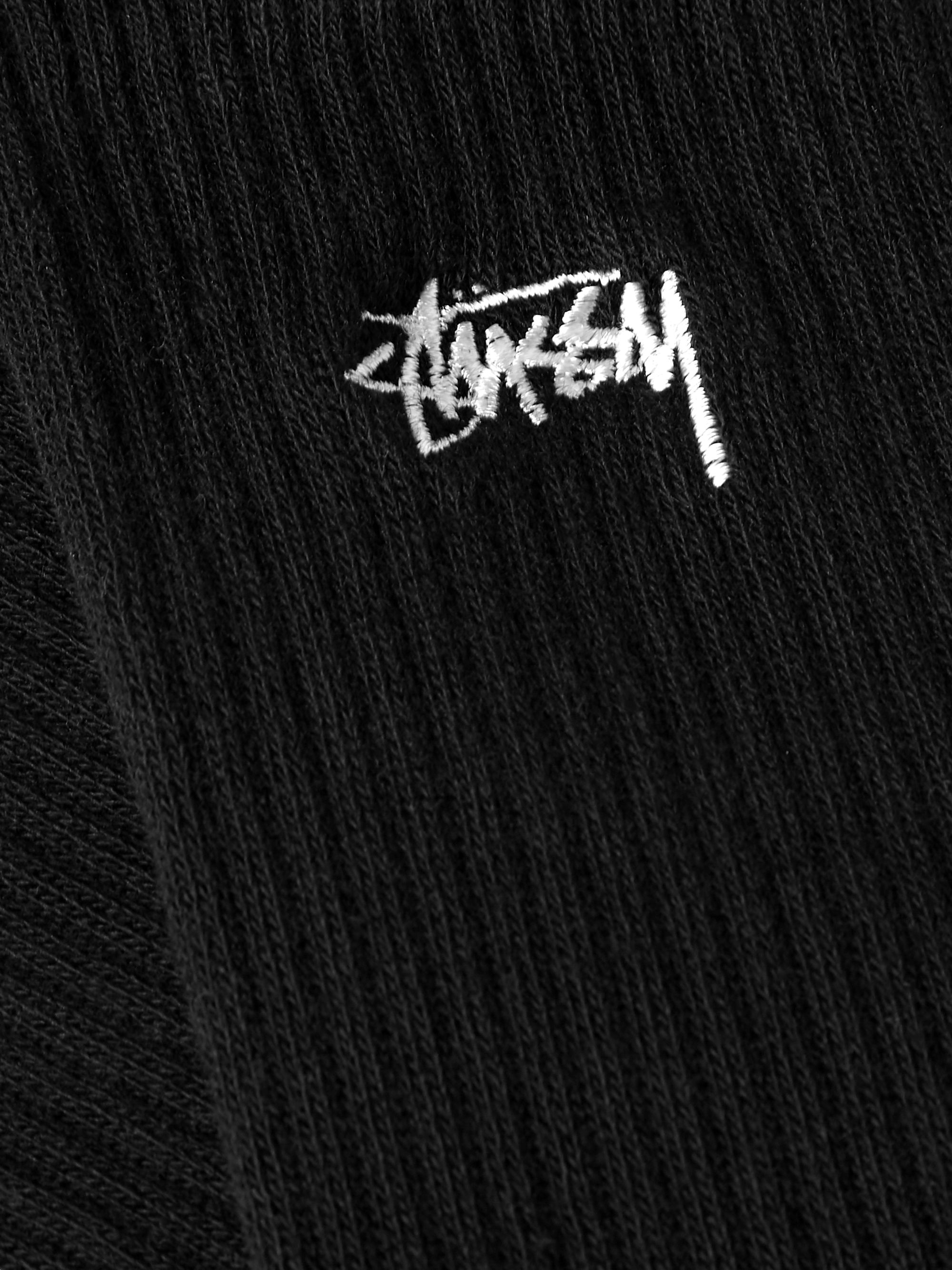 Stüssy Logo-Embroidered Ribbed Cotton-Blend Socks