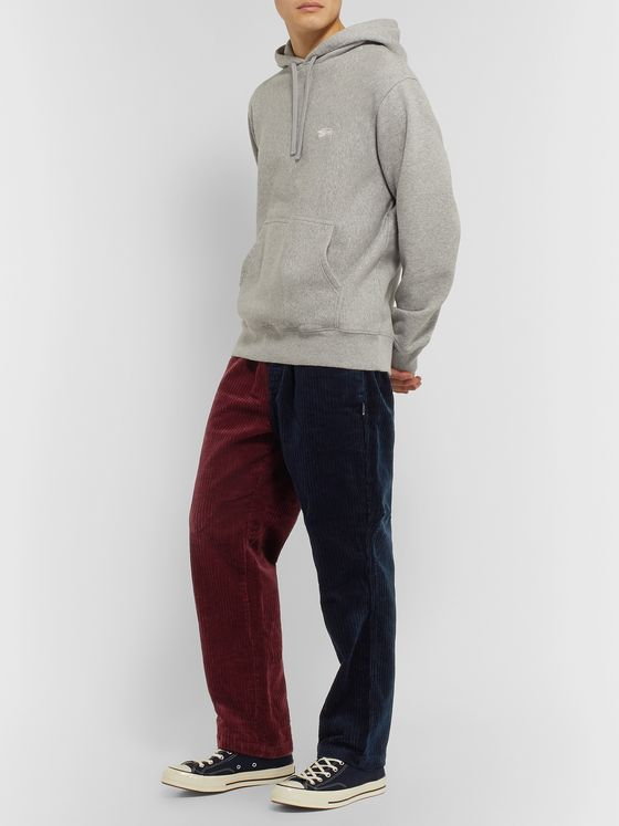 Stüssy Tapered Colour-Block Cotton-Corduroy Trousers