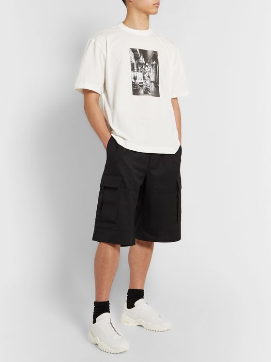 Y-3 Wide-Leg Wool-Blend Twill Cargo Shorts