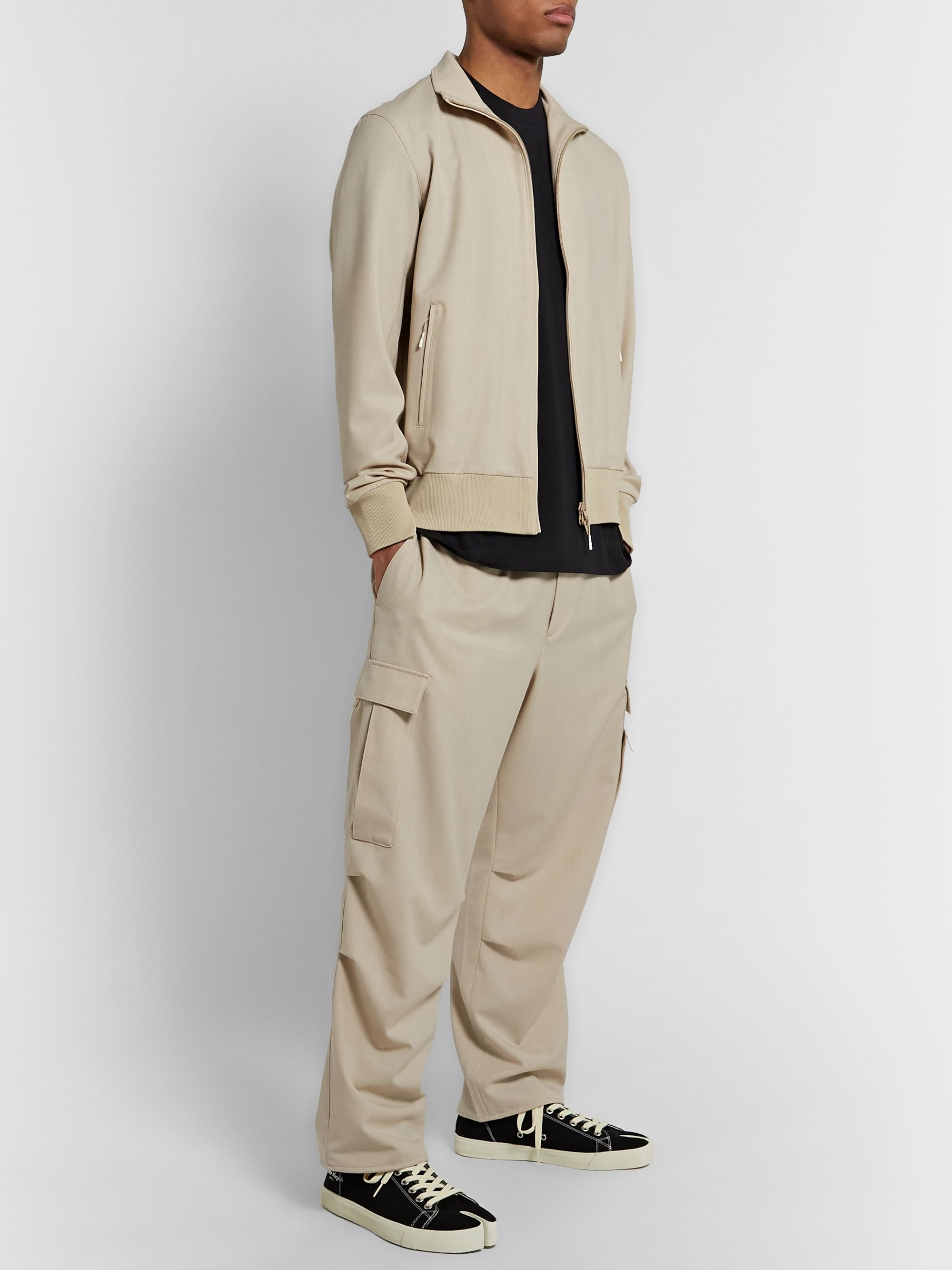 Y-3 Wide-Leg Wool-Blend Drawstring Cargo Trousers