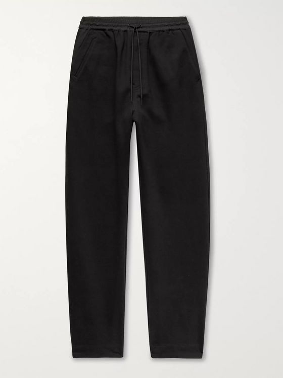Y-3 Wide-Leg Loopback Cotton-Jersey Sweatpants