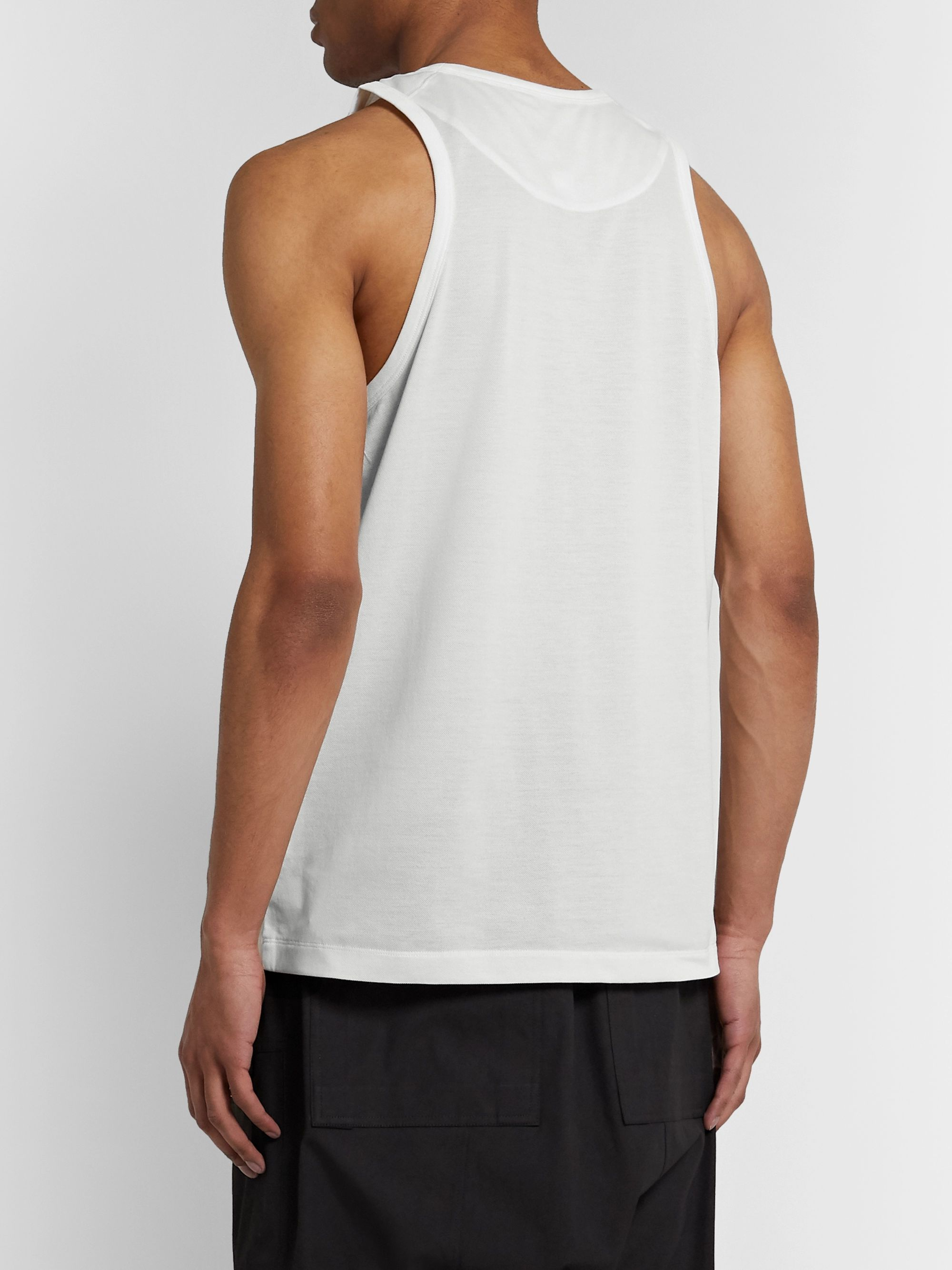 Y-3 Logo-Print Cotton-Piqué Tank Top