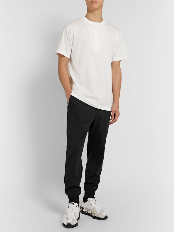 Y-3 Tapered Cotton-Jersey Sweatpants