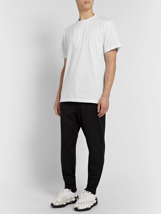 Y-3 Cotton-Jersey Henley T-Shirt