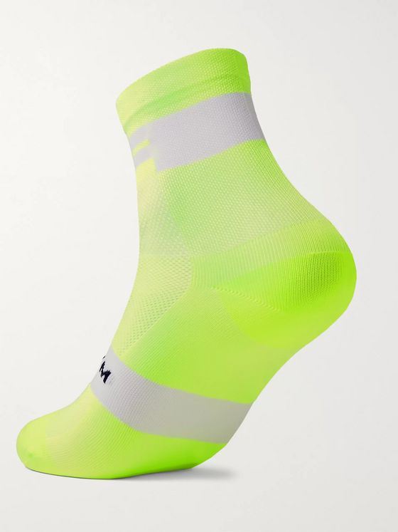 Soar Running Logo-Intarsia Neon Softair Socks