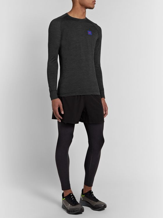 Soar Running Merino Wool and Silk-Blend Base Layer