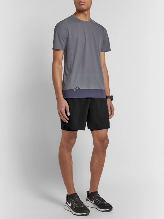 Soar Running Three Season 4.0 2-in-1 Stretch-Jersey Shorts