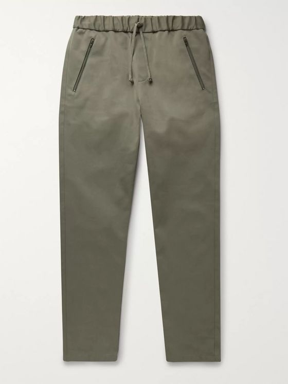 A.P.C. + Carhartt WIP Cotton-Blend Twill Drawstring Trousers