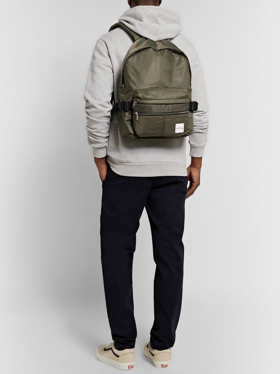 A.P.C. + Carhartt WIP Logo-Appliquéd Shell Backpack