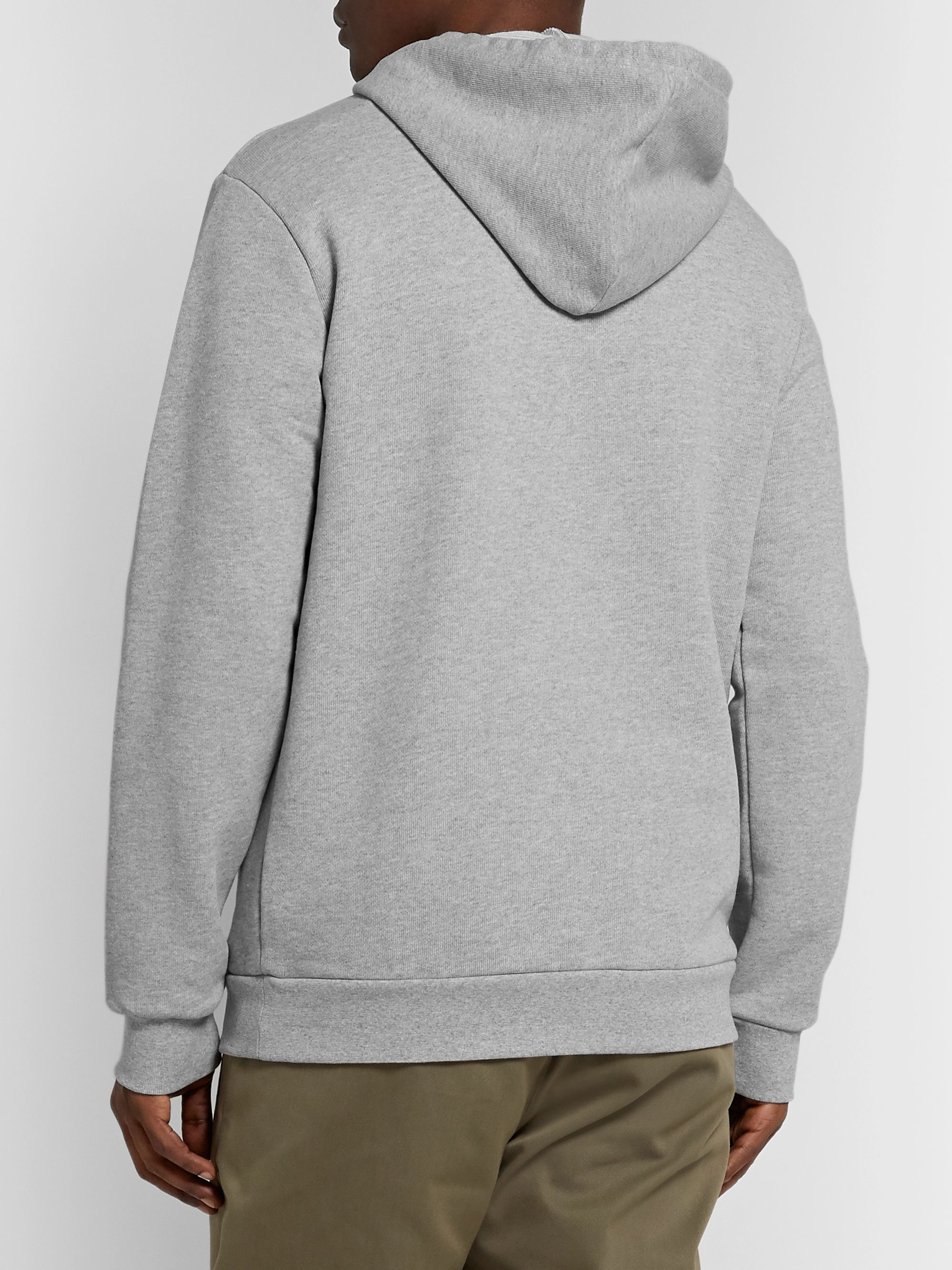 A.P.C. + Carhartt WIP Logo-Print Loopback Cotton-Blend Jersey Hoodie