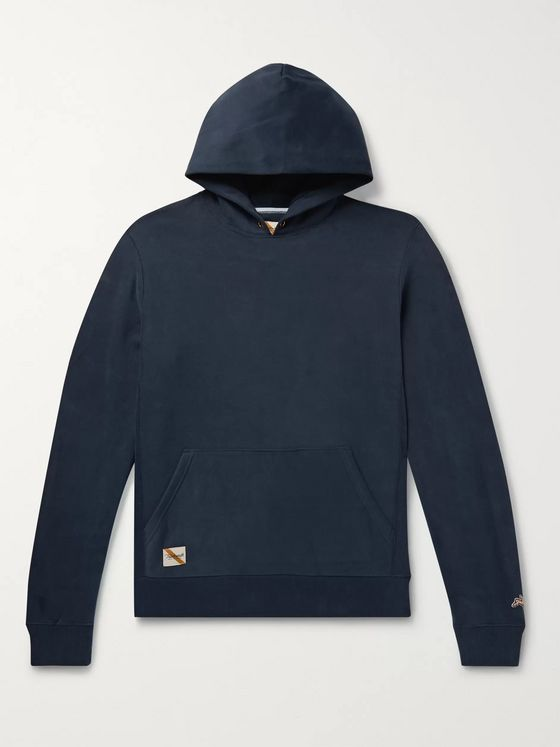 Tracksmith Trackhouse Mélange Loopback Cotton-Blend Jersey Hoodie