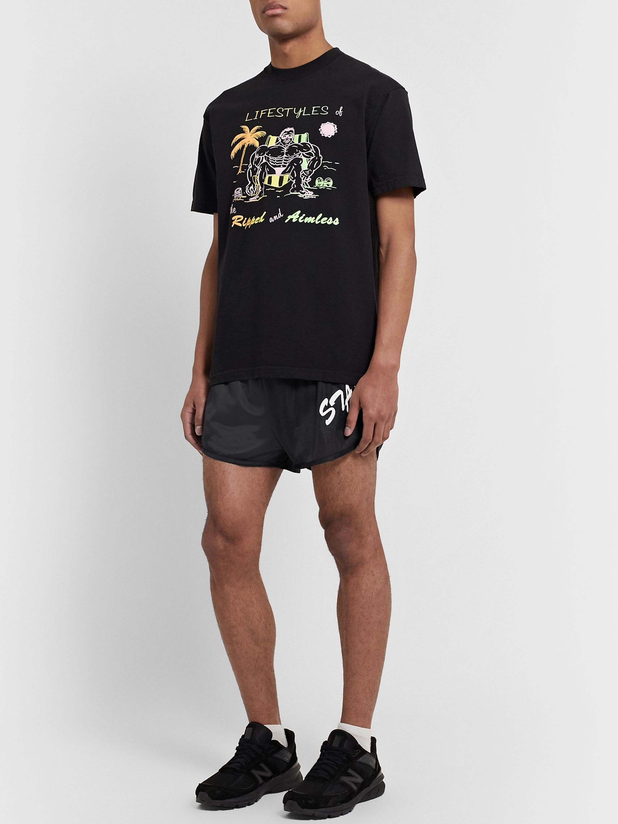 Y,IWO + Soffe Slim-Fit Printed Nylon Shorts