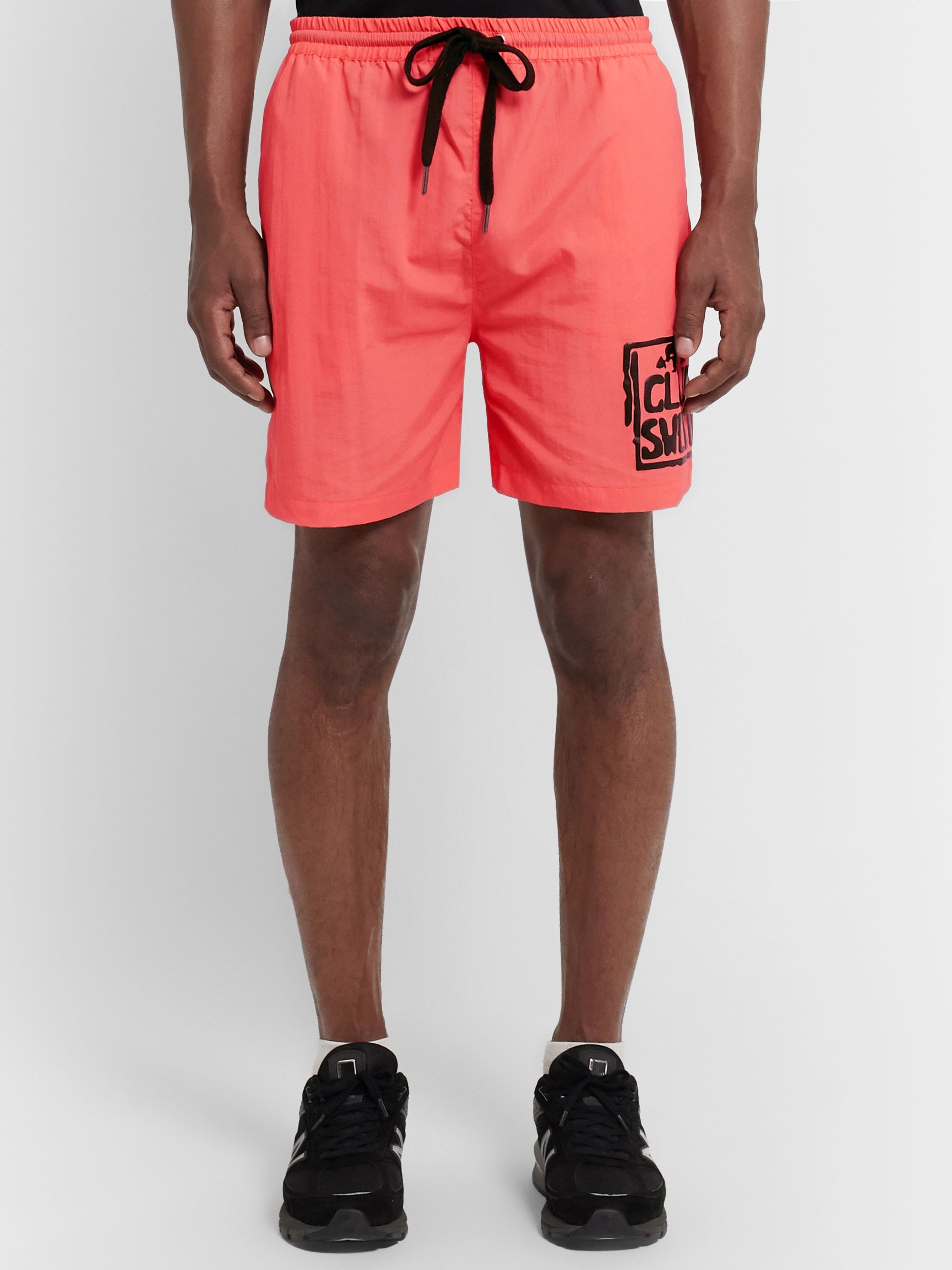 Y,IWO Club Sweat Printed Nylon Shorts